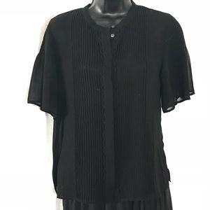 Madewell Sheer Black Blouse Size 6
